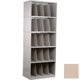 Stackbin® Five-Shelf X-Ray Storage Cabinet, Beige