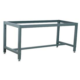 """Stackbin 4-51005-GY Adjustable Height Box Tube Workbench Frame, 52""""W X 27""""D, Gray"""