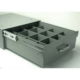 "Stackbin 4-RB16-12-GY 12 Compartment Divider Kit, 14""W X 16""D X 2-1/2""H, Gray"