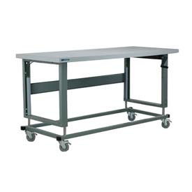 "Stackbin Workbench, 2500 Series, ESD Square Edge, 60""W X 30""D, Blue"