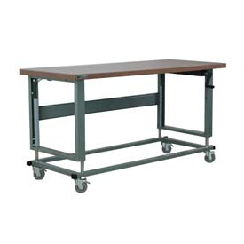 "Stackbin Workbench, 2500 Series, Hardboard, 48""W X 36""D, Gray"