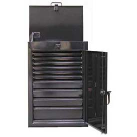 Strong Hold® Drawer Storage Cabinet 2.43-4LT-200-10DB - Narrow Lift-Up Lid 28 x 20 x 40