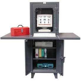 "Strong Hold Multi-Data Entry Computer Cabinet 26"" x 24"" x 72"""