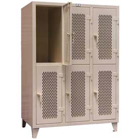 Strong Hold® Heavy Duty Ventilated Personal Locker 36-24V-2TPL - 2-Tier 36 x 24 x 78