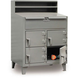 "48""W x 28""D 4 Person Locker Desk - Gray"