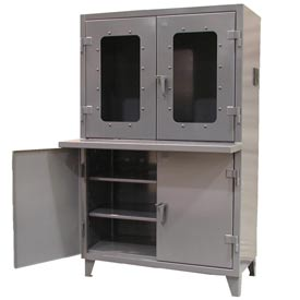 """Strong Hold Multifaceted Computer See-Thru Top Cabinet 48"""" x 24"""" x 78"""""""