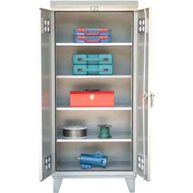 Strong Hold® Heavy Duty Weather Resistant Outdoor Storage Cabinet 46-WP-244 - 48 x 24 x 79.75