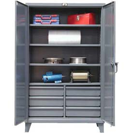 Strong Hold® Heavy Duty Storage Cabinet 56-244-6/5DB - With Drawers 60 x 24 x 78