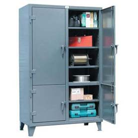 Strong Hold® Heavy Duty Storage Cabinet 56-4D-248 - Four Compartment 60 x 24 x 78