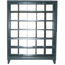 Strong Hold® Heavy Duty Pass-Thru Compartment Rack 56-NB-165-30OP - 60 x 16 x 78