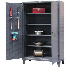 Strong Hold® Heavy Duty Pegboard Cabinet 56-PB-244 - 60 x 24 x 78