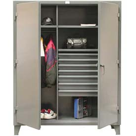 Strong Hold® Heavy Duty Combination Cabinet 56-W-243-7DB - With 7 Drawers 66 x 24 x 78