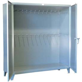 Strong Hold® Heavy Duty Storage Cabinet 66-240-24 - With 24 Hanger Pegs 72 x 24 x 78