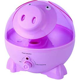 Sunpentown SPT Ultrasonic Humidifier, Pig, Up To 450 Sq. Ft., 1 Gallon Tank, Pink by