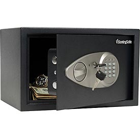 "SentrySafe Security Safe X055 - 13-13/16""W x 10-5/8""D x 8-11/16""H, Black"