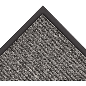 "NoTrax Estes 3/8"" Thick Entrance Floor Mat, 2' x 3' Charcoal"