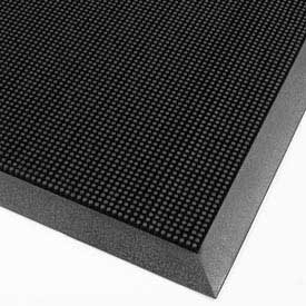 "Finger Scrape Entrance Mat - 32"" x 39"" - Black"