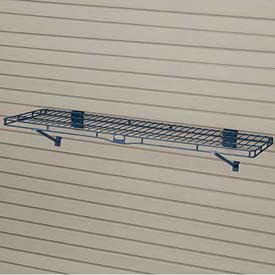 "Suncast® Trends® Garage Storage Wire Shelf, 48"" W X 14"" D X 8-3/16"" H, Blue - Pkg Qty 6"