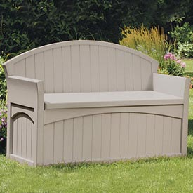 Suncast PB6700  Patio Bench and Deck Box 50 Gallon