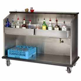 "Advance Tabco AMS-6B Portable Bar, Open Storage, Stainless Steel Body, 74"" by"