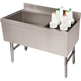 Combo Ice Chest, Coldplate, 21X47, Bottle Storage Rack Right, 119/35 lbs Ice Cap by