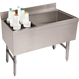 Challenger Combo Ice Chest, 21X47, Bottle Storage Rack Left, 35/119 lbs Ice Cap by