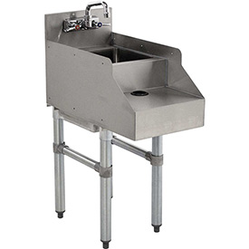 Click here to buy Add-On Unit, 18X12, Blender/Recess/Sink w/ Gooseneck Faucet.