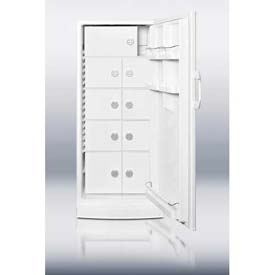 Summit FFAR10LOCKER - 10.1 Cubic Feet. All-Refrigerator, Nine Interior Locking Compartments