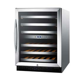 Summit SWC530LBISTCSS - Dual Zone Built-In Wine Cellar, Digital TSTAT, S/S Trimmed Shelves, S/S