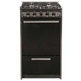 "Summit TNM114R Slide-In Gas Range, Slim 20""W,, Black Porcelain Construction, Four... by"