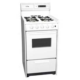 "Summit WNM1307KW DLX Gas Range, Slim 20""W, Elec. Ignition, Digital Clock/Timer, Oven... by"