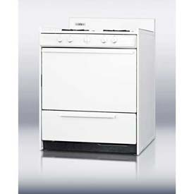 "Summit WNM2107 White Gas Range, Electronic Ignition, 30""W by"