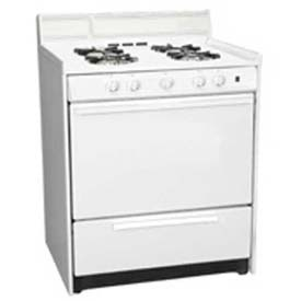 "Summit WNM2107F White Gas Range, Sealed Gas Burners, Electronic Ignition, 30""W by"