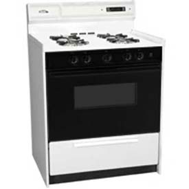 "Summit WNM2307DFK Deluxe Gas Range, 30""W, Sealed Burners, Electronic Ignition, Light by"