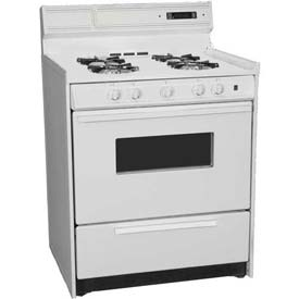 "Summit WNM2307KW Deluxe Gas Range, 30""W Electronic Ignition, Digital Clock/Timer,... by"