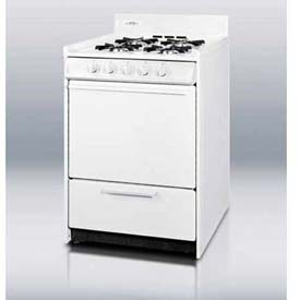 "Summit WNM6107 White Gas Range, Slim 24""W, Electronic Ignition by"