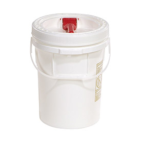 SpillTech 5 Gallon Pail with Screw Lid A5OVER Polyethylene White by