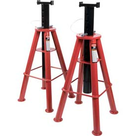 Sunex Tools 1410 10 Ton High Height Pin Type Jack Stands, Steel Base, Pair by