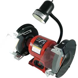 """Sunex Tools 5002A 8"""" 3/4 HP 3450 RPM Bench Grinder W/ Light by"""