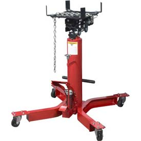 Sunex Tools 7793B 1/2 Ton lb Telescopic Transmission Jack, Universal Saddle, Foot Activated by
