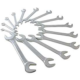 "Sunex Tools 9914 14 PC. 3/8""-1-1/4"" SAE Full Polish Angled Head Wrench Set by"