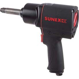 """Sunex Tools SX4345-2,Comp. Impact Wrench w/2"""" Anvil,1/2"""" Drive,540 ft. lbs,4.7 CFM,1/4"""" Inlet by"""