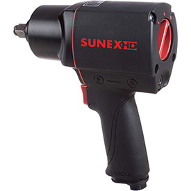 """Sunex Tools SX4345, Composite Impact Wrench, 1/2"""" Drive, 540 ft. lbs, 4.7 CFM, 1/4"""" Inlet by"""