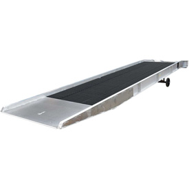 Vestil Aluminum Yard Ramp SY-168430 with Steel Grating 30'L 16,000 Lb. Cap.
