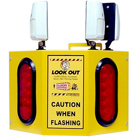 Collision Awareness Forklift Sensor, Look Out 3 Model, 1 Box, 3 Sensors, 2 Lights, 25' Cord by