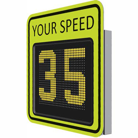 "Buy Tapco SP650 15"" Radar Variable Message Sign, AC Powered, Fluorescent Yellow-Green, 128082"