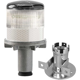 Tapco 3337-00003 Solar Powered LED Strobe Lights, White Bulb by