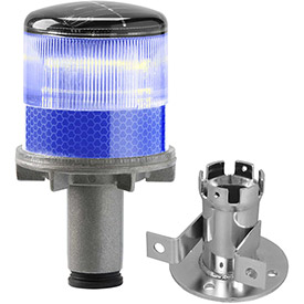 Tapco 3337-00004 Solar Powered LED Strobe Lights, Blue Bulb by
