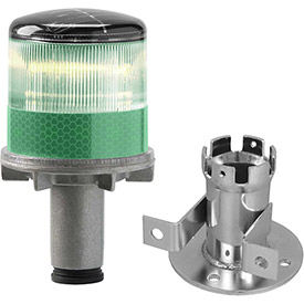 Tapco 3337-00005 Solar Powered LED Strobe Lights, Green Bulb by