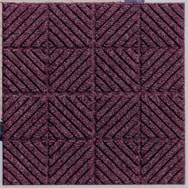 "Waterhog Classic Carpet Tile 21956716000, Diagonal, 18""L X 18""W X 7/16""H, Medium Blue, 10-PK"